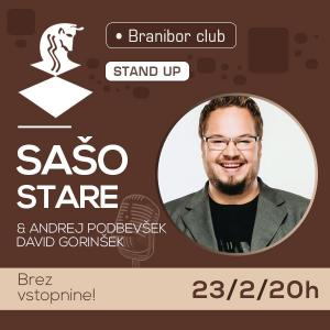 Stand up - Sašo Stare z gostoma