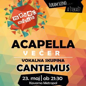 Acapella večer: vokalna skupina Cantemus