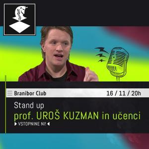 Prof. Uroš Kuzman in učenci